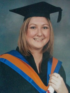 Becki Cross Event Management Degree Graduation Photo Colour