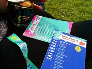 V Festival Lanyard showing line up on the stages